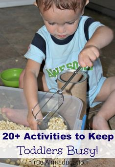 20+ Activities for Toddlers including star themed activities, apple activities, diy toys and more!