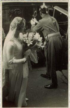 Prinzessin Sibylle von S-Coburg  Gotha am Tage der Heirat mit Gustaf Adolf von Schweden