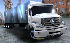 Hood Trucks Concept Mercedes Benz Trucks, Daimler Benz, Old Tractors, New Trucks, Automotive Design, Transportation, Concept, Jeeps, Ronaldo