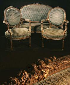 New arrivals French sofa set around XVIII Sofa francuska i 2 fotele z XVIII #frenchantiques #antyki #sofa #empireantyki #XVIII
