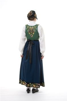 "The original ""Gudbrandsdalen festbunad"" from Gudbrandsdalen Oppland Norway Folk Costume, Costumes, Norway Food, Norway Girls, All Things, Scandinavian, Most Beautiful, High Waisted Skirt, The Originals"