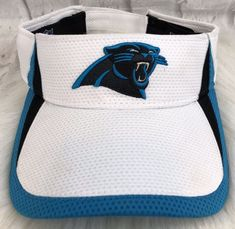 Carolina Panthers Visor NFL Blue White New Era Adjustable  2d5187802