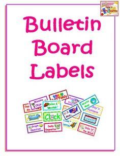 Bulletin Board Labels