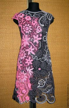 Купить Платье и клатч Чио-Чио-Сан. Ирландское кружево - однотонный, платье, платье вечернее