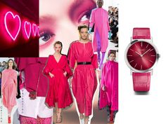 (English) Discover the SIHH 2017 women's watch novelties, amongst them, the Audemars Piguet Royal Oak Frosted, the Cartier Panthere, the Girard-Perregaux Laureato Red Leather, Leather Jacket, Audemars Piguet Royal Oak, Watch, Pink, Jackets, Women, Fashion, Studded Leather Jacket