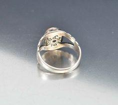 Vintage Navajo Sterling Silver Dragons Breath Opal Ring Boylerpf