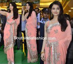 Aishwarya in Manish Malhotra Saree ~ Celebrity Sarees, Designer Sarees, Bridal Sarees, Latest Blouse Designs 2014