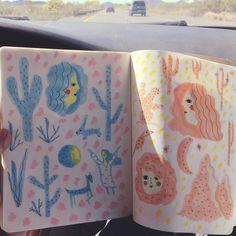 Road trip sketch #didntgetcarsick #sketch #moleskine #copic #moonladies #carolynmakessomething2016 by carolynsuzuki