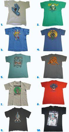 vintage skateboard t-shirts