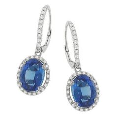 Halo Style Pave Diamond and Tanzanite Dangle Earrings Halo, Dangle Earrings, Dangles, Gemstone Rings, Fine Jewelry, Gemstones, Solomon, Diamond, Amazon