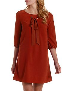 Bow Front Shift Dress: Charlotte Russe