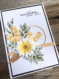 Birthday Cards For Women, Handmade Birthday Cards, Stampin Up Karten, Hand Made Greeting Cards, The Draw, Stamping Up Cards, Fall Cards, Journaling, Sympathy Cards