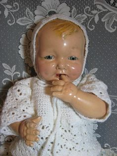 Antique 1924 Effanbee Large Bubbles Composition Baby Doll