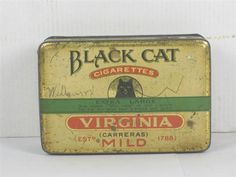 Cat Tins | ... Shop Stuff | Old-Cigarette-Tin-Black-Cat-Cigarettes for sale (7707