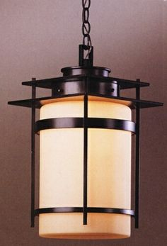 Hubbardton Forge Medium Banded Outdoor Hanging Light