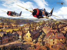 Aviation Art : Air Combat Paintings Collection (Vol.03) - Advance Into Europe - Aviation Art by Nicolas Trudgian 10