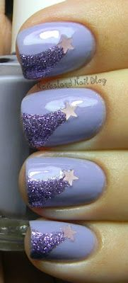 Shooting stars Galaxy nails- base coat blue opi colour then add the shooting star. Also this design will be on your pointer middle and pinky finger. Get Nails, Fancy Nails, Love Nails, How To Do Nails, Pretty Nails, Hair And Nails, Prom Nails, Jolie Nail Art, Do It Yourself Nails