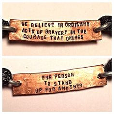 """""""We believe in ordinary acts of bravery in the by Nerdiecouture, $9.99"""" from Etsy. Divergent. Dauntless manifesto quote."""