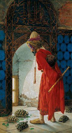 """The Tortoise Trainer"" by Osman Hamdi Bey, 1906, Pera Museum."