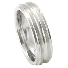 Tungsten Carbide Men's Ladies Unisex Ring Wedding Band 6MM (1/4 inch) Double Grooved Brushed Comfort Fit (Available in Sizes 8 to 12) DazzlingRock Collection. $14.99. Stamped Tungsten Carbide. Unisex Ring. 6mm wide. Get most bang for your buck