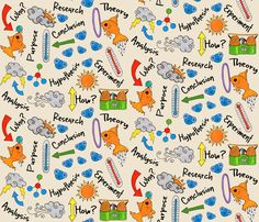 Science Fair Ideas fabric by creativefiasco on Spoonflower - custom fabric. My favourite this week