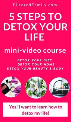 Eat clean, avoid toxic products, and detox your home so you can thrive. Join the mini-video course today! Healthy Soup Recipes, Healthy Meals For Kids, Bar Recipes, Eating Healthy, Salad Recipes, Herbal Remedies, Natural Remedies, Health Remedies, Detox Your Home