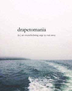 A Greek word for escapism.
