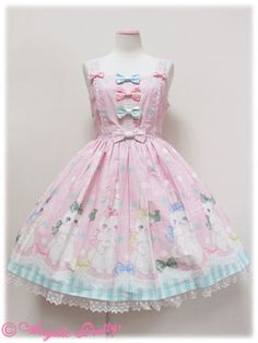 Marshmallow Bunny Ribbon JSK Angelic pretty - this is so cute! This reminds me of Princess Peachie :D