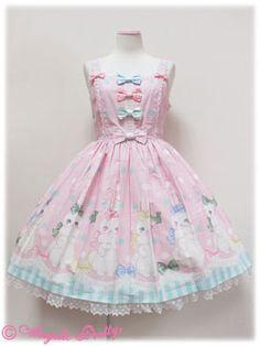 Angelic Pretty マシュマロバニーリボンジャンパースカート