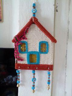 Crochet hause keyring