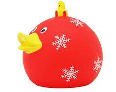 Badeend kerstbal rood LILALU