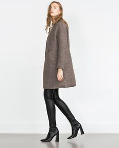 #Zara - Bouclé Wool Coat