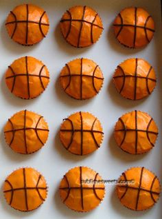 Basketball and cupcakes...excellent combo sports party food