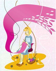 Knitting girl precahracter by eorg80.deviantart.com on @DeviantArt