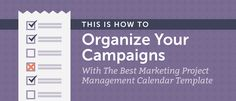 Get your entire marketing process organized with this free marketing project management calendar template and step-by-step how-guide from CoSchedule. Marketing Process, Content Marketing, Affiliate Marketing, Business Tips, Online Business, You Better Work, Free Market, Project Management, Getting Organized