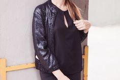 Un total black look porque el negro siempre es una buena idea y el mejor color que podemos vestir cuando no sabemos qué ponernos