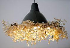 Bird nest looking lamp! Sparkle!