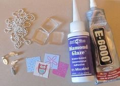 Homemade Holiday: Glass Tile Pendant Necklaces
