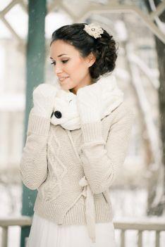Winter bride - just in case it's crazy cold...