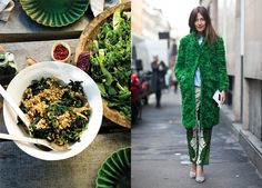 love the food & fashion mash-ups that bon appetit is doing (this one: kale salad with an astroturf-like coat)