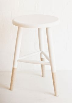 NEW wooden stool white/nature from www.bodieandfou.com