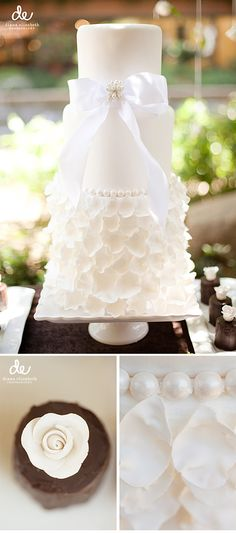 37 Exquisite All-White Wedding Cakes - Ready for all-white perfection? Look at these eye-candies! These are all-white cakes for any weddin - All White Wedding, White Wedding Cakes, Beautiful Wedding Cakes, Gorgeous Cakes, Pretty Cakes, Dream Wedding, Wedding Dress, Bow Wedding, Cake Wedding