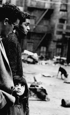 Two Men and a Girl East Harlem; New York, 1960 © Steve Schapiro