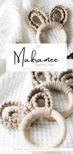 Bead Crafts, Diy And Crafts, Baby Presents, Macrame Design, Macrame Projects, Boho Diy, Macrame Patterns, Diy Toys, Diy Painting
