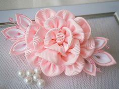 Handmade Kanzashi fabric flower grosgrain by MARIASFLOWERPOWER, £6.50