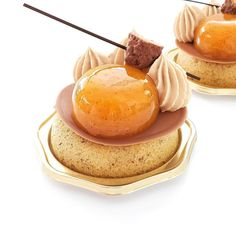 """Pastry Chocolate 🇯🇵 on Instagram: """"Petit gateaux """"Valérie"""". . . . #abricot  #caramel #praliné #patisfrance #apricot #petitgateaux  #artisanpatisserie #gebakje #apricottart…"""" Food Art, A Food, Basic Kitchen, Caramel, Food Trends, Wine And Beer, New Recipes, Panna Cotta, Dining"""
