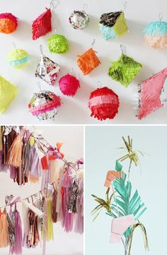 These mini-pinatas would be so fun to make and they would make an incredible party favor
