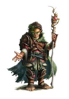 Male Halfling Druid - Pathfinder PFRPG DND D&D d20 fantasy