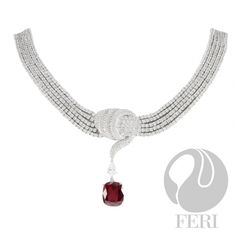 - Exclusive FERI 950 Siledium silver - Exclusive dual natural rhodium and palladium plating - Set with exclusive FERI Swan cut lab stones - Colour: white and red - Dimension: Inner length Outer length width stone x x with extender Optical Glasses, Sterling Silver Jewelry, Wealth, Plating, Stone, Red, Design, Rock, Rocks