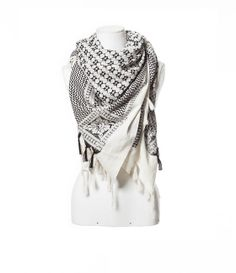 Image 2 of JACQUARD PATTERN SCARF WITH FRINGES from Zara